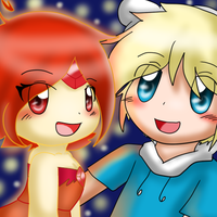 Finn x Flame Princess by SkyWarriorKirby