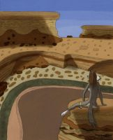 coyote on the canyon by TavNymblewynd