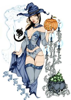 Blue Witch by HelenVampire91