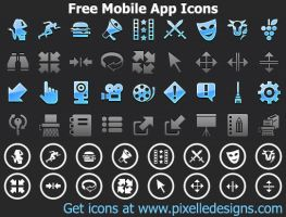Free Mobile App Icons by shockvideoee