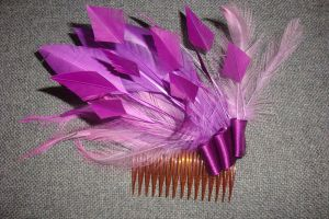 purple 'biot' fascinator by tanmei