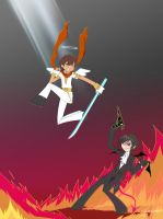Lelouch and Suzaku with Geass by RavenAnime