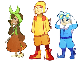 Pokemon: GEN 6 STARTERS DANG by ky-nim