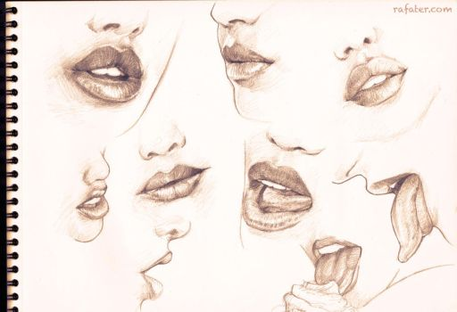 Lip studies and a cupcake by rafater