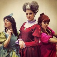 Lady Tremaine and Daughters by deviantlisard
