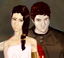 Aphrodite and Ares by XAVERIVS