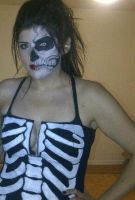 Halloween 2011: Skeleton by itashleys-makeup
