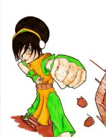 toph moving rocks by Isdailic