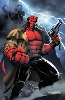 Hellboy by Dan-the-artguy