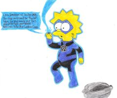 Lisa as a Blue Lantern by Spider-Lantern