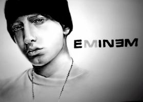 Eminem Charcoal drawing by desiangel1