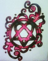 Heartagram Tattoo design by vampireheartagram27