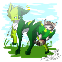 .:Commission:. Can't walk anymore, carry me! by Dorte7thekitten