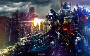 optimus prime wallpaper by xRiverBx