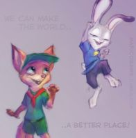 Zootopia - Try to make the world a better place by moremagic