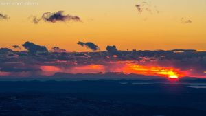 Sunset at the other side of Adriatic by ivancoric