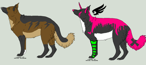 German shepherd adopts -OPEN- by BlueFang-Adoptables