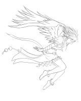Angel lineart by chrono75
