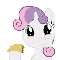 Sweetie Belle Eating a Taco by BleuTaco