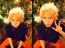Xmas Naruto by berylrion