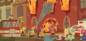 Mane 6 Firefighters by Template93