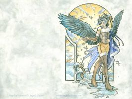 Angel of Winter Wallpaper by AngelaSasser