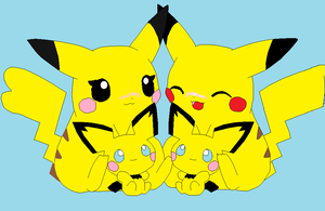 Pickachu Family by domoqueen16