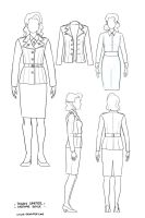 Peggy Carter Costume Reference by greyallison