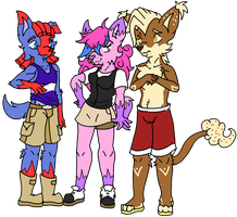 Trio: Licorice-Cottencandy-and F.T by Xxcandywater-fallsxX