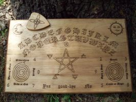 Wiccan Themed Ouija Board by DragonOak