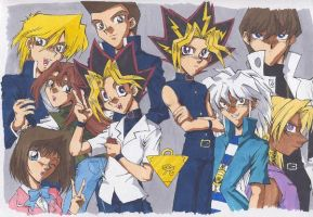 Yugioh cast pic by rika-chan