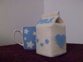 Milk Carton Plushie by slumbergirl