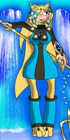 Kechi The Water Mermaiden -Land form- by SeleanaMermaid-Kechi