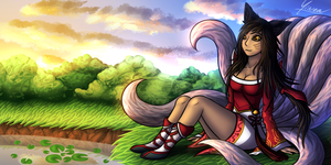Ahri by SHINXxPOOCHYENA