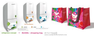 Refrigerator and shopping bag design by candyrod