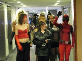 Me Lady Deadpool with my X-men Friend by Sinta54