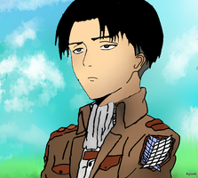 Captain Levi~ My First Digital Artwork! by Kyuok