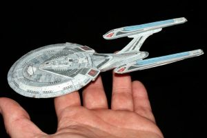 Small USS Enterprise-E Paper model by ThunderChildFTC