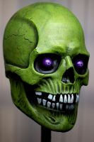 Halloween skull Green 2 by masocha