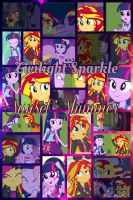 Twilight Sparkle and Sunset Shimmer by PrincessEmerald7