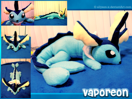 Vaporeon Plush by Allyson-x