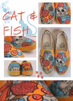 HUNGRY CAT SHOES by artsyfartsyness