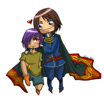 .:Chibi Frey and Heimdall:. by Ariall