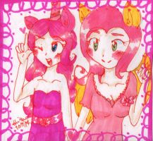 Pinkie and Flutters by HollyBjeam
