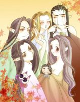 elrond ' s family by nekopin
