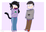 [Art Trade] Switched clothes by rashanacooke24