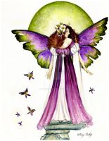 Faerie with Green Orb by Acorncupcake