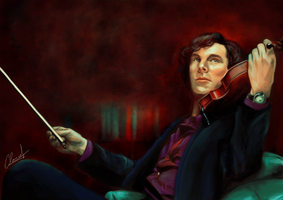 Sherlock : The Violin by fishydotlove
