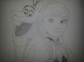 Frozen - Olaf and Anna by kngdmhrts2