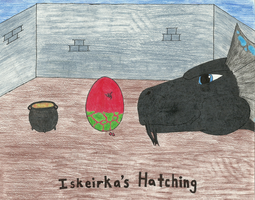 Iskierka's Hatching by LordoftheFuzzys